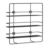 Woud Coupe Rectangular Shelf Black Bookcases Furniture Finnish Design Shop