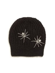 Jennifer Behr Double Spider Merino Wool And Silk Beanie Black Slate