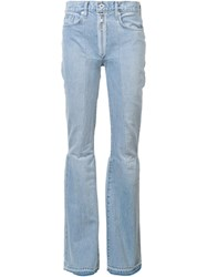 Off White Flared Jeans Blue