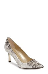 Donald J Pliner Women's 'Treva' Pointy Toe Pump Taupe Python Print Leather