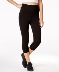 Ideology Slimming Flex Stretch Cropped Leggings Only At Macy's Black