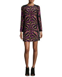 Alice And Trixie Zoey Long Sleeve Printed Shift Dress Camel Women's Camel 892