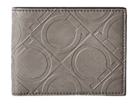 Salvatore Ferragamo Gancio Four Wallet 660408 Grey Wallet Handbags Gray