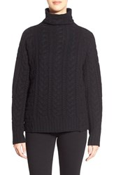 Women's Nordstrom Collection Cable Cashmere Sweater Black