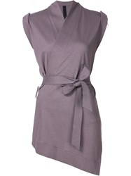 Forme D'expression Kimono Sleeveless Cardigan Pink And Purple