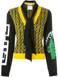 Moschino Cable Knit Effect Cardigan Black