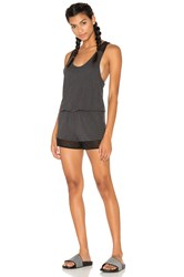 Alo Yoga Tranquility Romper Charcoal