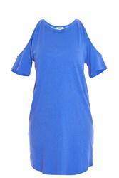 Lna Ella Open Shoulder Dress Blue