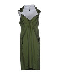 Liviana Conti Dresses Knee Length Dresses Women Military Green