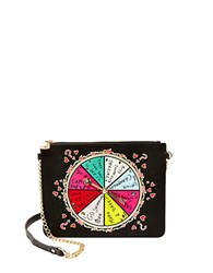 Betsey Johnson Spinner Shoulder Bag Black