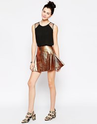 Antipodium Retriever Skirt In Bronze Brown