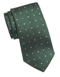 Vince Camuto Textured Dot Silk Tie Green