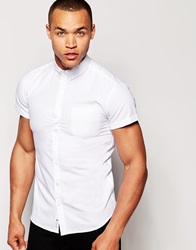 Minimum Oxford Shirt With Short Sleeves White