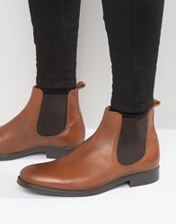 Selected Homme Oliver Leather Chelsea Boots Tan