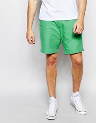 Farah Chino Shorts In Oxford Cotton Mint Green