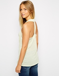 Vero Moda London Sleeveless Top With Racer Back Yellow