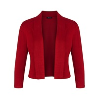 Precis Petite Collar Shrug Bright Red