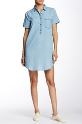 Blvd Chambray Short Sleeve Dress Blue