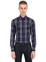 Paul And Shark Fit Checked Cotton Flannel Shirt