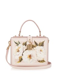 Dolce And Gabbana Box Peony Print Leather Bag Light Pink