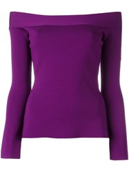 Roland Mouret Off Shoulder Top Pink Purple