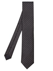 Brioni Geometric Chain Link Silk Tie Black Multi