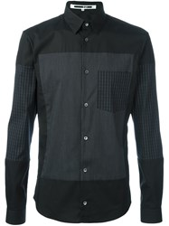 Mcq By Alexander Mcqueen Check Panelled Shirt Black
