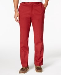 Tasso Elba Men's Regular Fit Chino Pants Only At Macy's Red