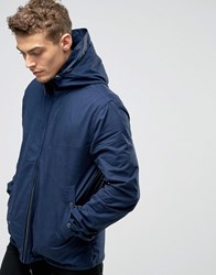 Pretty Green Jacket With Hood In Navy Navy