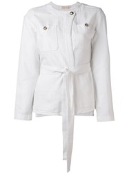 Tory Burch Belted Jacket White