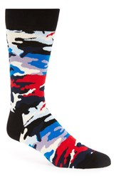 Men's Happy Socks Print Socks Black Black Combo