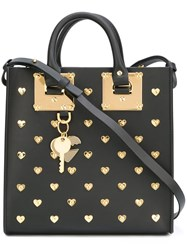Sophie Hulme Heart Studded 'Albion' Tote Black