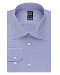 Ike Behar Crosby Solid With Pocket Classic Fit Dress Shirt Blue