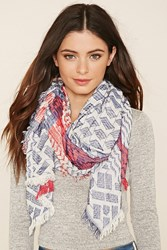 Forever 21 Abstract Woven Scarf