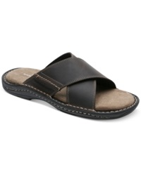 Rockport Kevka Lake Crossband Sandals Men's Shoes Dk Stone