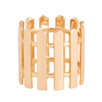 Campbell Picket Fence Ring Gold