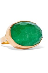 Katerina Makriyianni Gold Plated Jade Ring Green Gold