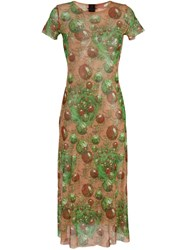 Jean Paul Gaultier Vintage Patterned Short Sleeve Dress Multicolour