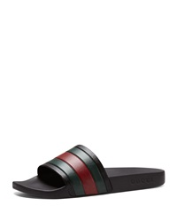 Gucci Pursuit '72 Rubber Slide Sandal Black