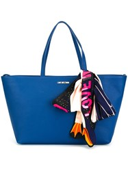 Love Moschino Double Handles Large Tote Blue