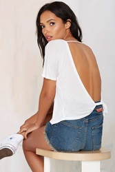 Nasty Gal Summer Lovin' Low Back Tee White