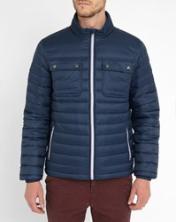 Tommy Hilfiger Navy Light Patch Pockets Down Jacket Blue