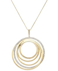 Sis By Simone I Smith 'Forever Shaunie' 18K Gold Over Sterling Silver Necklace Crystal Eternity Pendant 1.2 1.7Mm