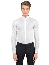 Christian Dior Mandarin Collar Cotton Shirt