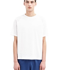 Sunspel Cotton Raglan T Shirt White