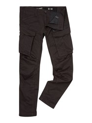 G Star Rovic Tapered Fit 3D Zip Pocket Cargo Pants Charcoal