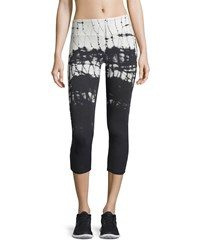 The Balance Collection Tie Dye Capri Leggings Blue Dawn Black