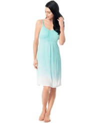 Motherhood Maternity Bump In The Night Maternity Ombre Nursing Nightgown Aruba Blue
