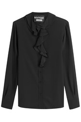 Boutique Moschino Ruffled Blouse With Silk Black