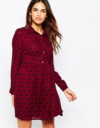 Sugarhill Boutique Love Shirt Dress Wineblack